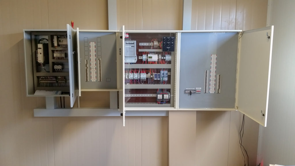 Commercial electrician boxes rewired