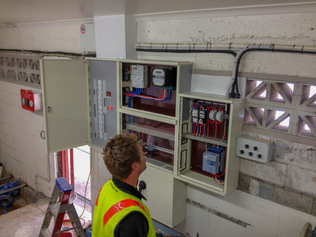 Commercial electrician wiring