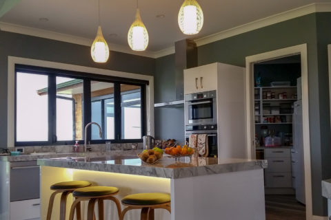 Residential electrician kitchen lighting