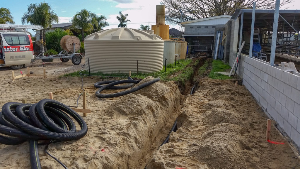 rural electrician cables run