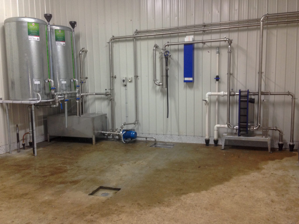 rural electrician dairy shed wash area